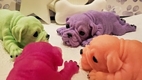 Bulldog puppy soap, large, perfect gift for dog lovers