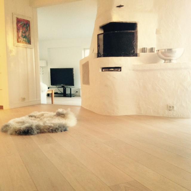 Legging av Esco Chateau Elegance natural hvit en stave eik.