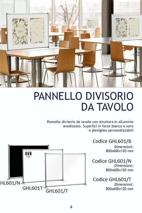 PANNELLO DIVISORIO DA TAVOLO  SATINATO BIANCO