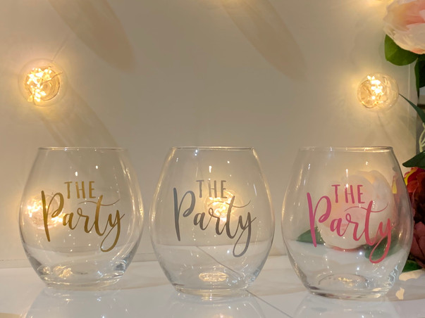 Bridesmaid Stemless wine glasses