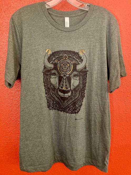 Bison shirt  Heather Forest