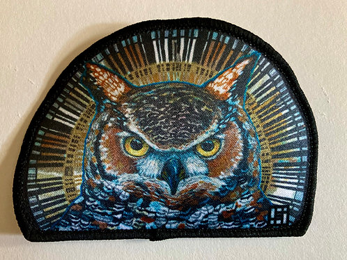 Great Horned Owl sew on patch