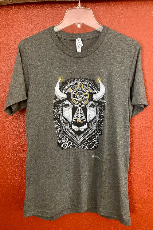 Bison shirt-Heather Grey