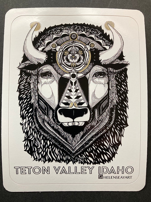 "TV Idaho Bison ""The Manual""- Vinyl Sticker"