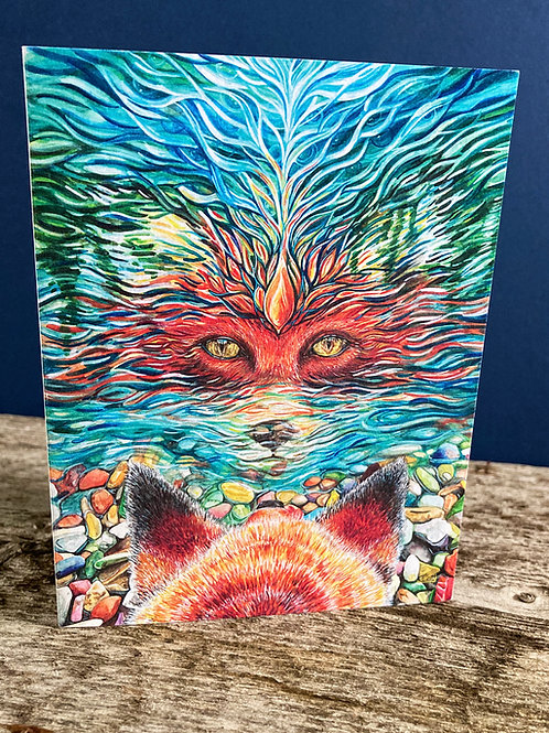 Let Me Be Free/Fox Greeting Card
