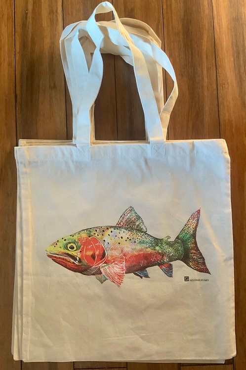 Cotton Tote Bag -Cutthroat Trout