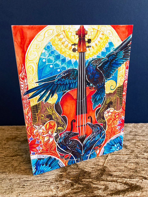 Music Is Light Greeting Card