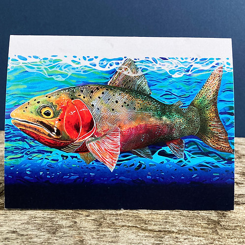 Cutthroat Trout Greeting Card