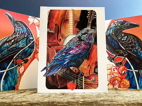 Flock of Ravens Greeting Card Assortment 6-Pack
