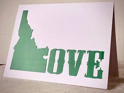 Love Idaho card