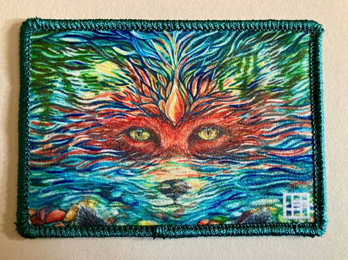 Fox Patch (Let Me Be Free) with light teal merrow