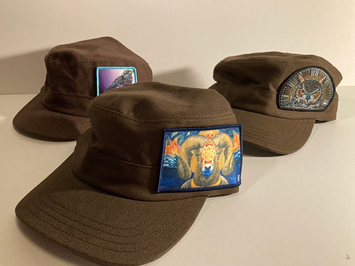 Brown HEMP and Organic Cotton Hats-FREEDOM fighter style