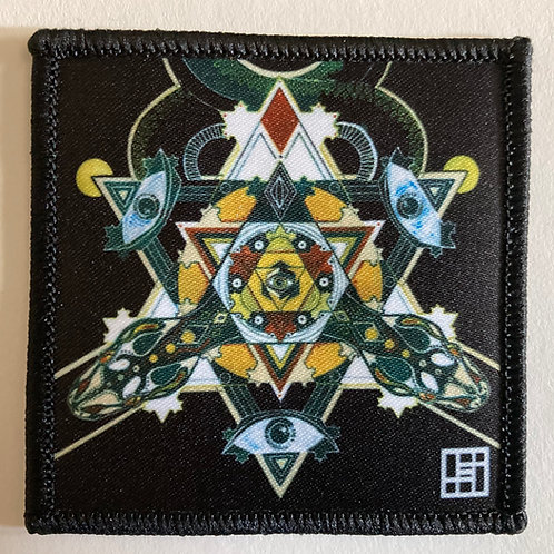 Serpentine Dreams Mandala Patch with Black merrow