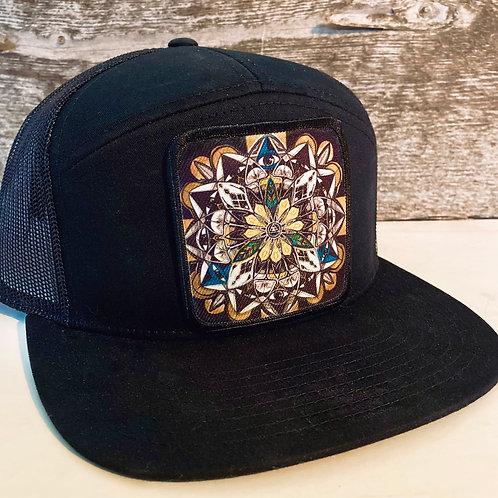 Mandala Hat-All Black