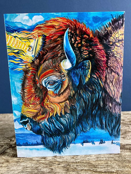 Clarity Bison Greeting Card