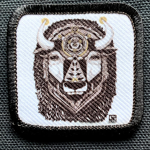 Bison patch with black merrow
