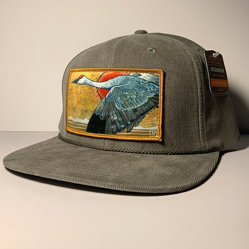 Sandhill Crane Trucker or Flat Bill Hat