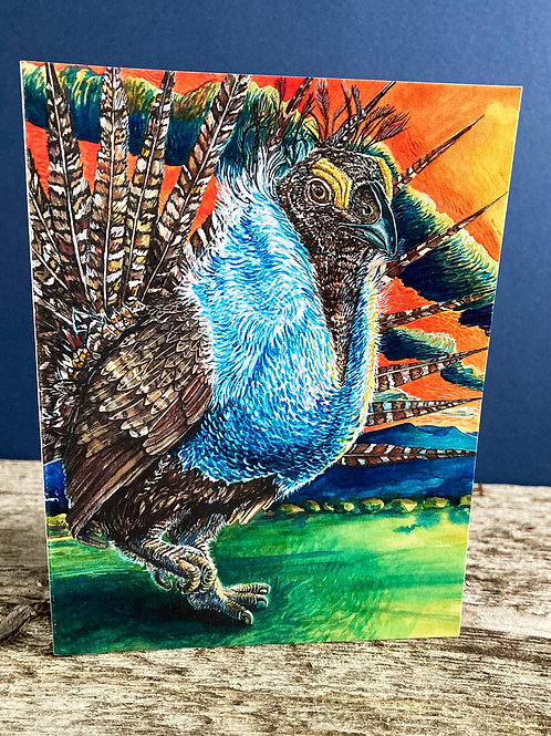 Sage Grouse Greeting Card