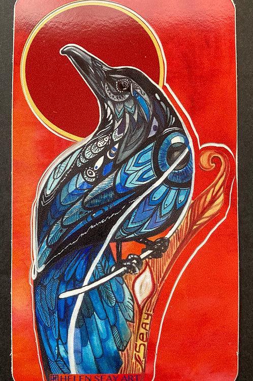 Raven Red - Vinyl Sticker