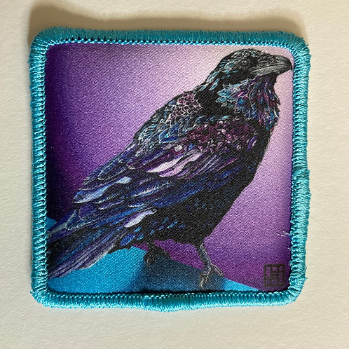 Raven Patch with Teal-blue merrow