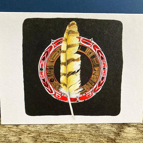 Feather Mandala Greeting Card