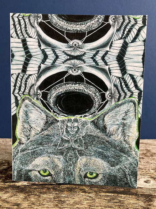 She is Wolf Greeting Card