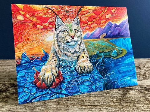 We Even Share Tears/Lynx Greeting Card