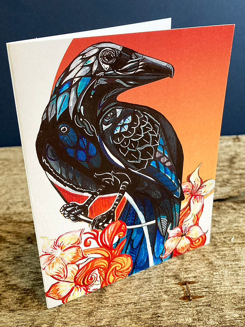 Red Raven 2 Greeting Card