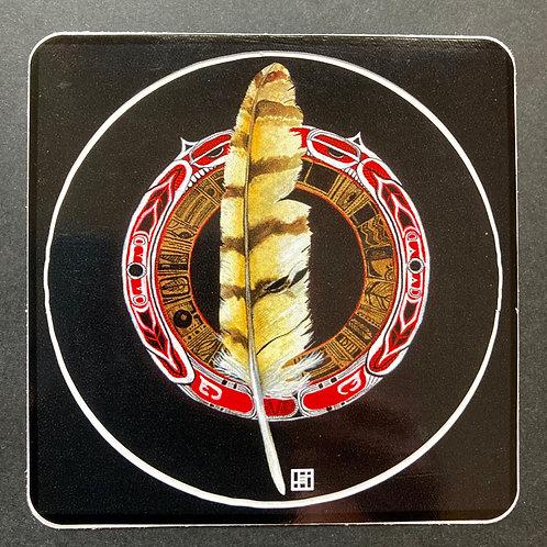 Feather Mandala- Vinyl Sticker