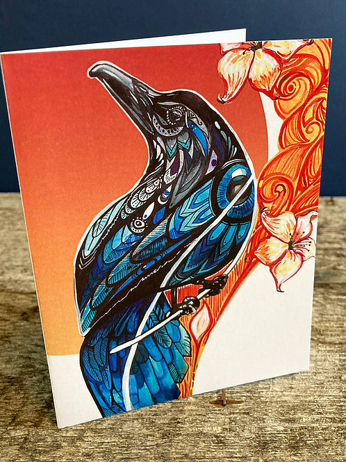 Red Raven 1 Greeting Card