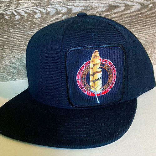 Feather Mandala Hat-All Black