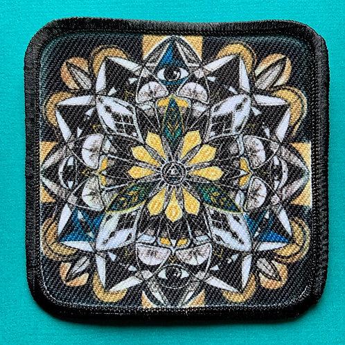 Mandala Patch with Black merrow