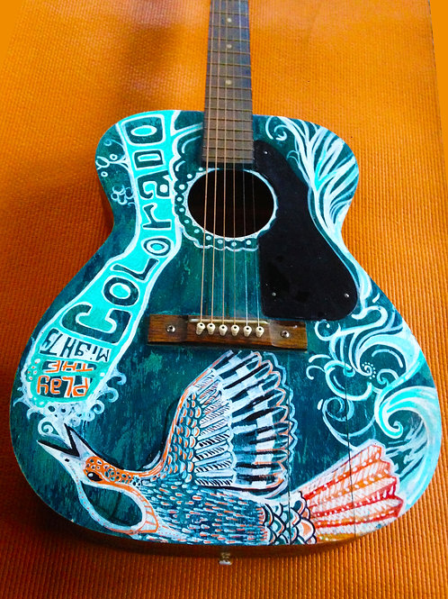 Custom painting on Guitar