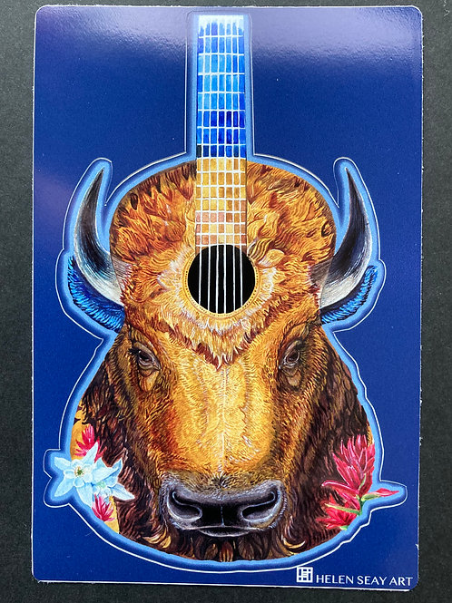 Bison Guitar- Vinyl Sticker