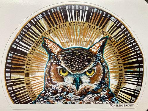 Great Horned Owl- Vinyl Sticker
