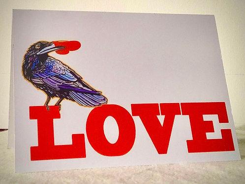 Love Raven Card