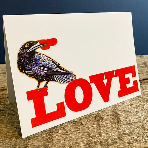 Love Raven Greeting Card