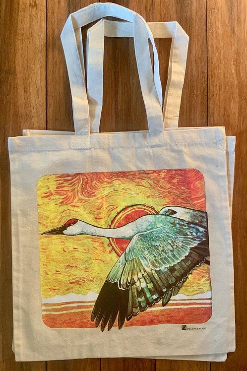 Cotton Tote Bag -Sandhill Crane