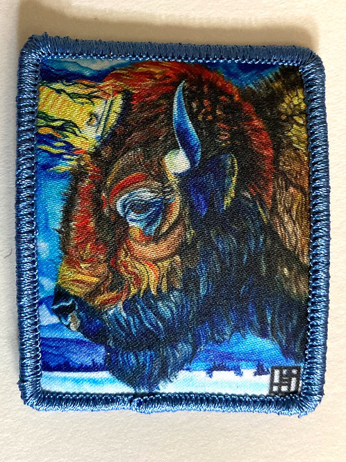 Clarity Bison patch with blue merrow