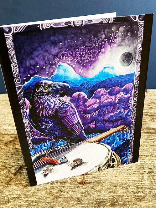 Moonlight Raven  Greeting Card