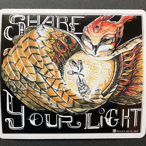 Share Your Light- Vinyl Sticker