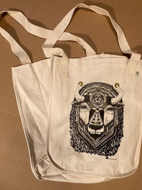 ORGANIC Cotton Tote Bag -Bison
