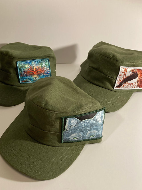 GREEN HEMP and Organic Cotton Hats-FREEDOM fighter style