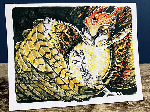 Your Light/OWL Greeting Card
