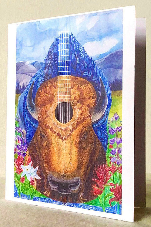 Bison Blues Card