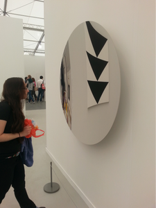 Anish Kapoor, Untitled, 2015. Stainless steel, 130 x 130 x 14 cm. Lisson Gallery, Frieze New York 2015.
