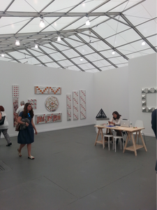 Installation view at Third Line Gallery booth, Frieze New York 2015.