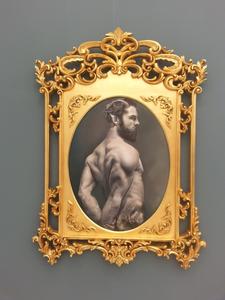 Taner Ceylan, Satyr I, 2015. Oil on canvas. 107 x 74 cm. Paul Kasmin Gallery, Frieze New York 2015.