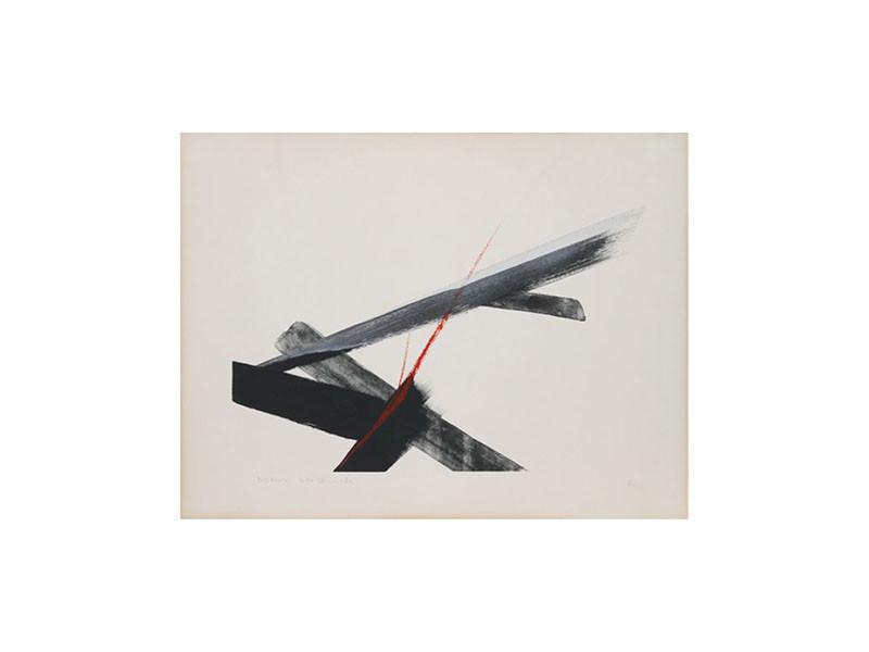 Figure 7 – Toko Shinoda, Nexus, lithograph, 68x53cm, circa. 1984. Courtesy of Ro Gallery.