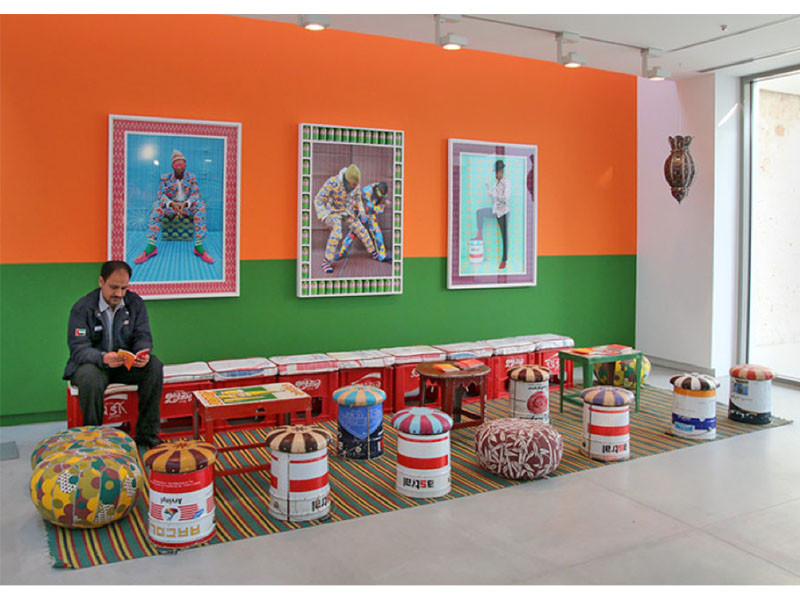Figure 4. Hassan Hajjaj, Le Salon, 2013, found objects and textiles. Part of the exhibition: Chaos into Clarity. Re-Possessing a Funktioning Utopia, Oct. 2013 - Jan. 2014. Sharjah, UAE. Photograph: Courtesy of Haupt & Binder.